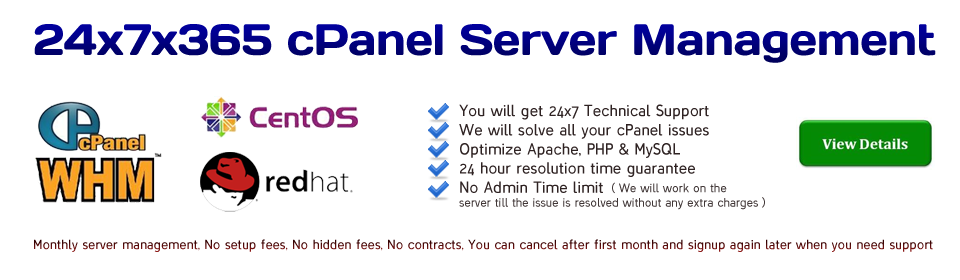 cPanel Server Management Services